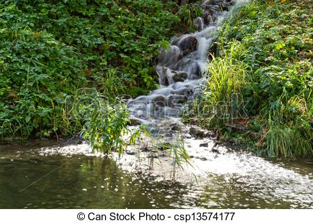 Sream clipart spring water Of small csp13574177 source Stock