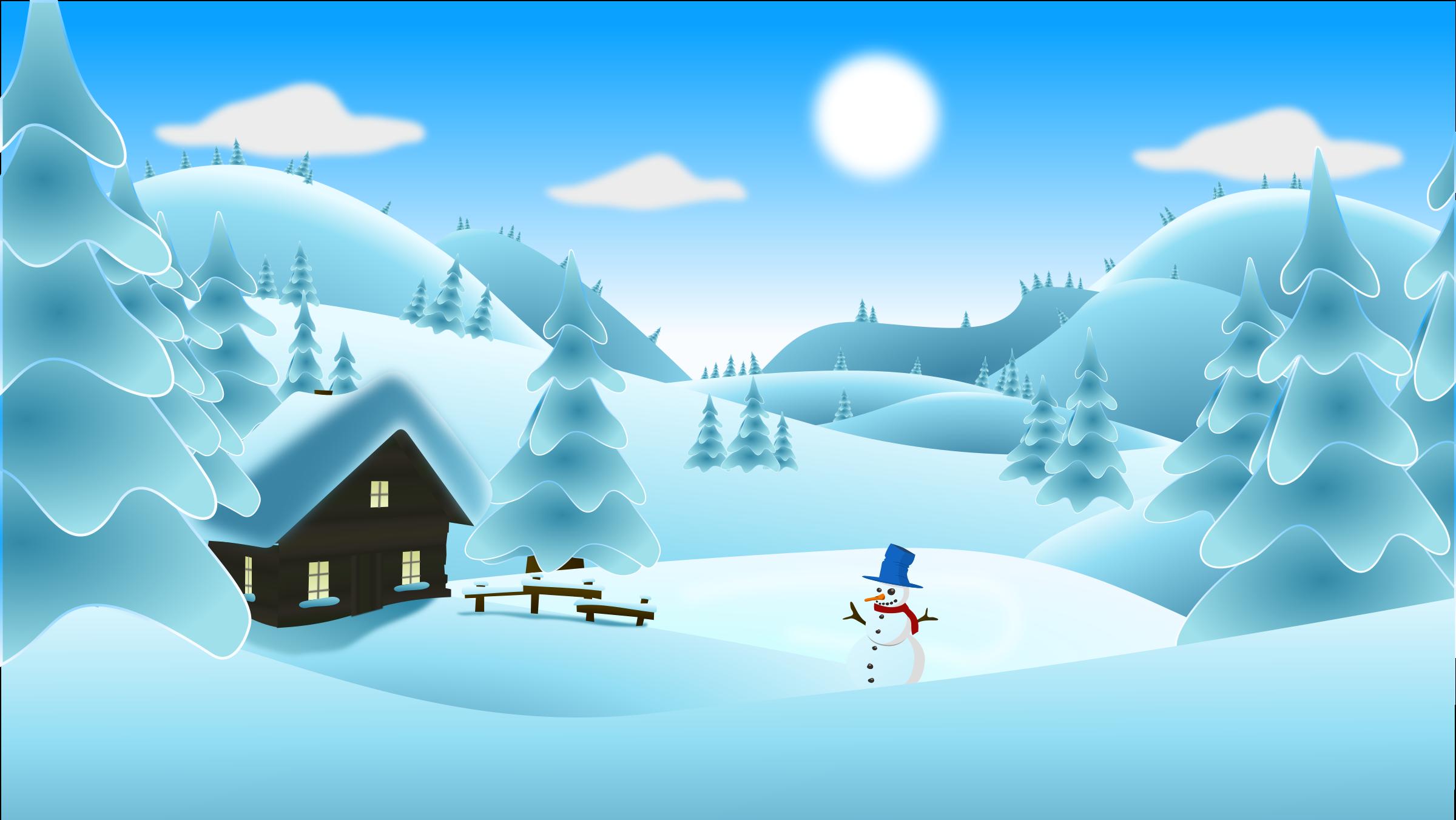 Lodge clipart winter scene Landscape Landscape Winter Clipart Winter