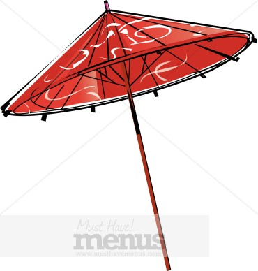 Japanese Food clipart chinese restaurant Paper Clipart Chinese Umbrella Restaurant