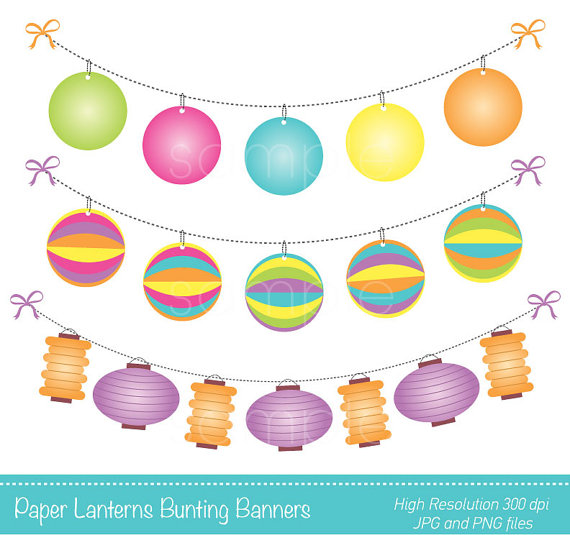 Latern clipart banner Scrapbooking YelloWhaleDesigns only Lanterns Lanterns