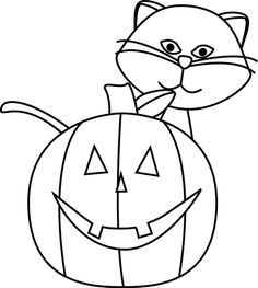 White clipart halloween Black O art Clipart and