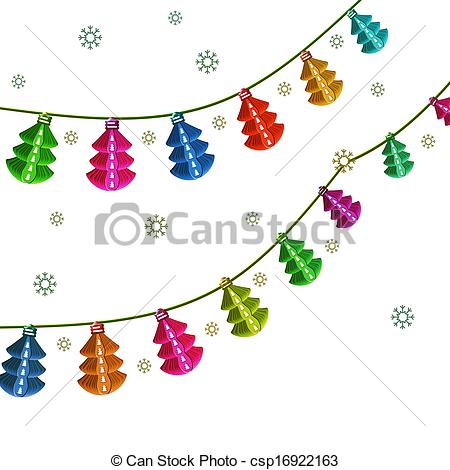 Lantern clipart cartoon chinese Christmas Stock Garland Christmas lantern