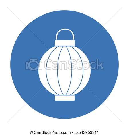Lantern clipart korean In in symbol isolated icon