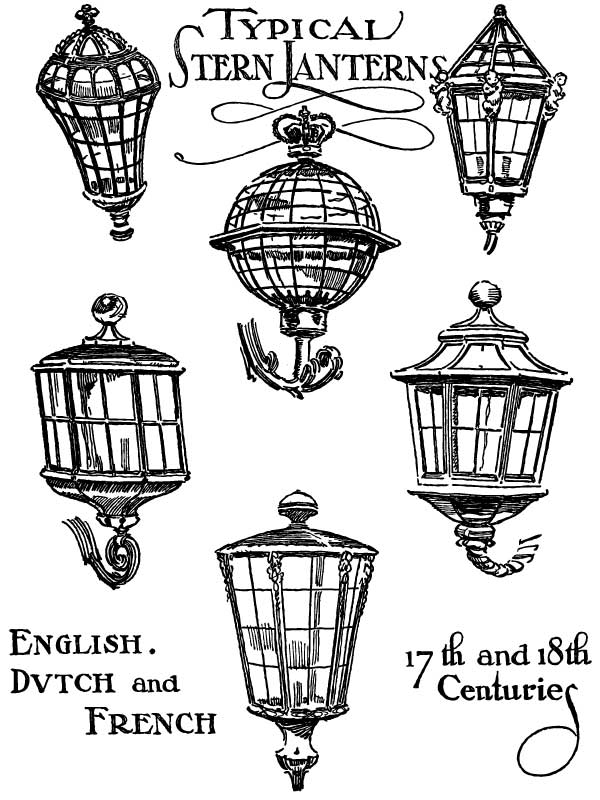 Victorian clipart lantern Lanterns  drawing drawing ship