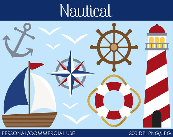 Lantern clipart nautical $3 Nautical MareeTruelove Clipart Graphics