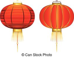 Latern clipart red chinese #2