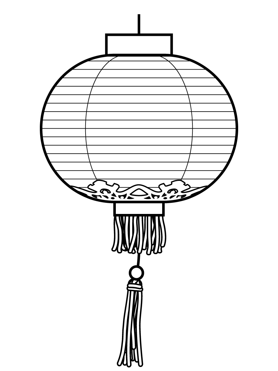 Paper Lantern clipart black and white On  Lantern Clip Art