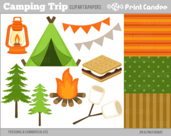 Lantern clipart tree Camping Personal Commercial Lantern Digital