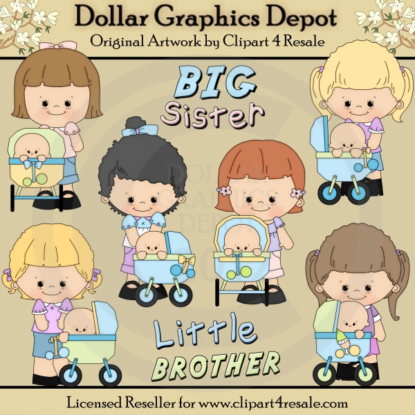 Larger clipart first place winner Art Brother $1 Little Sister