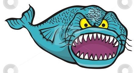 Please clipart big Fish Big angry angry stock