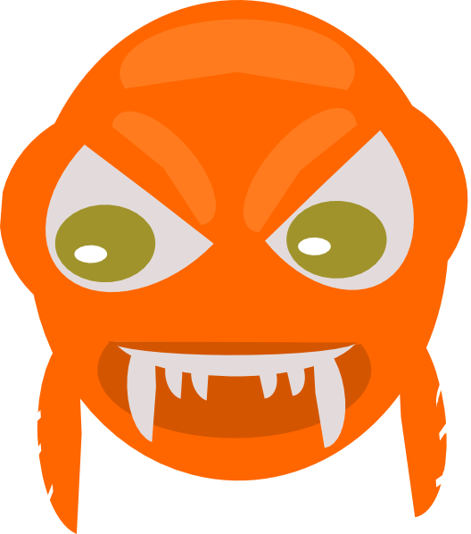 Larger clipart angry fish Clip Fish Clker Art vector
