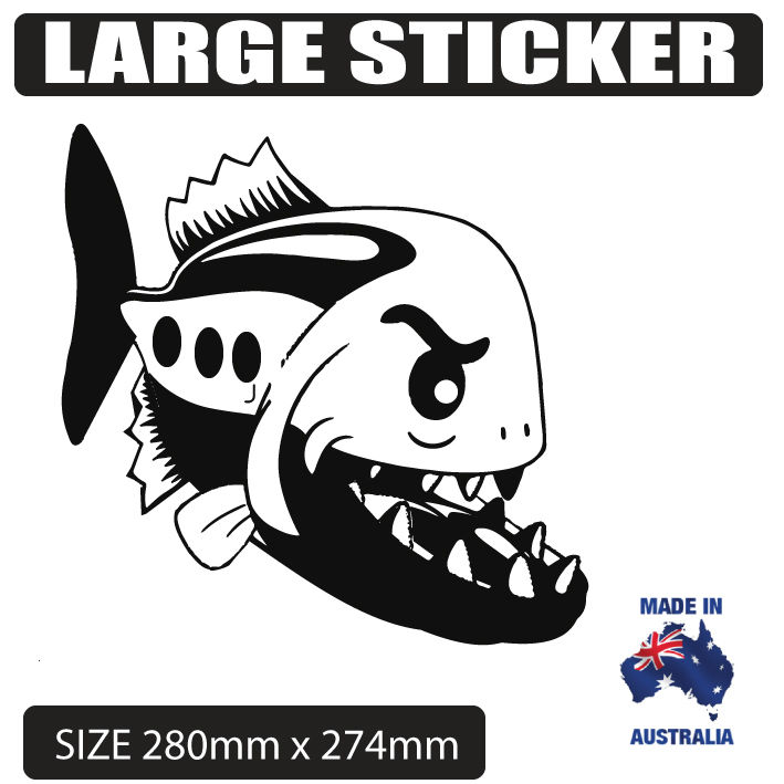 Larger clipart angry fish  boat Ute Decal caravan