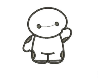 Larger clipart baymax Cute Design Etsy Embroidery Hero