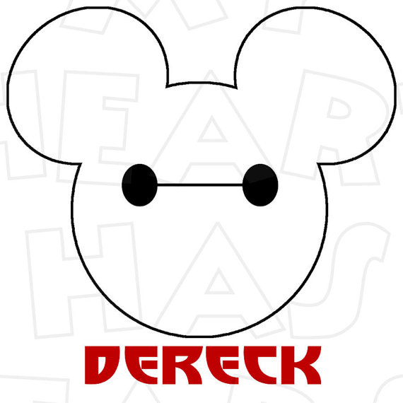 Larger clipart baymax Mouse on Iron Baymax Mickey
