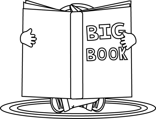 Bobook clipart balck white Reading Images Reading a White