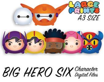 Larger clipart big hero 6 Six Big Character Etsy Big