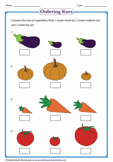Larger clipart big vs Worksheets by Ordering Big and