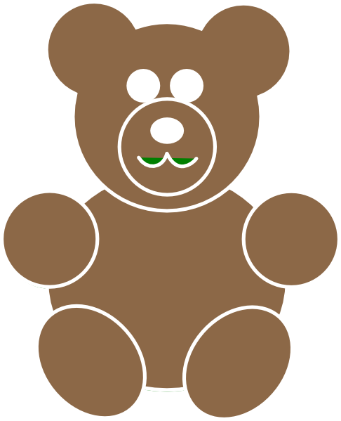Larger clipart brown bear Clip Brown vector · at