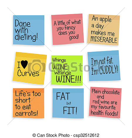 Larger clipart can Health postits larger positive postits
