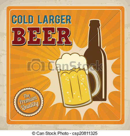 Larger clipart can Beer retro larger beer poster