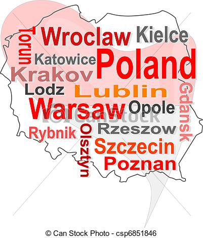 Larger clipart can Map and and Vector poland