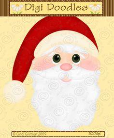 Larger clipart face 0 santa cute santa art