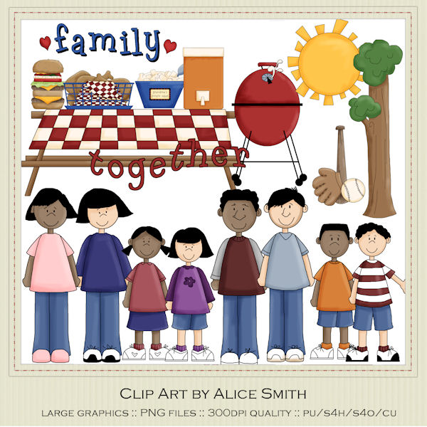Larger clipart family picnic Art for Art use Smith