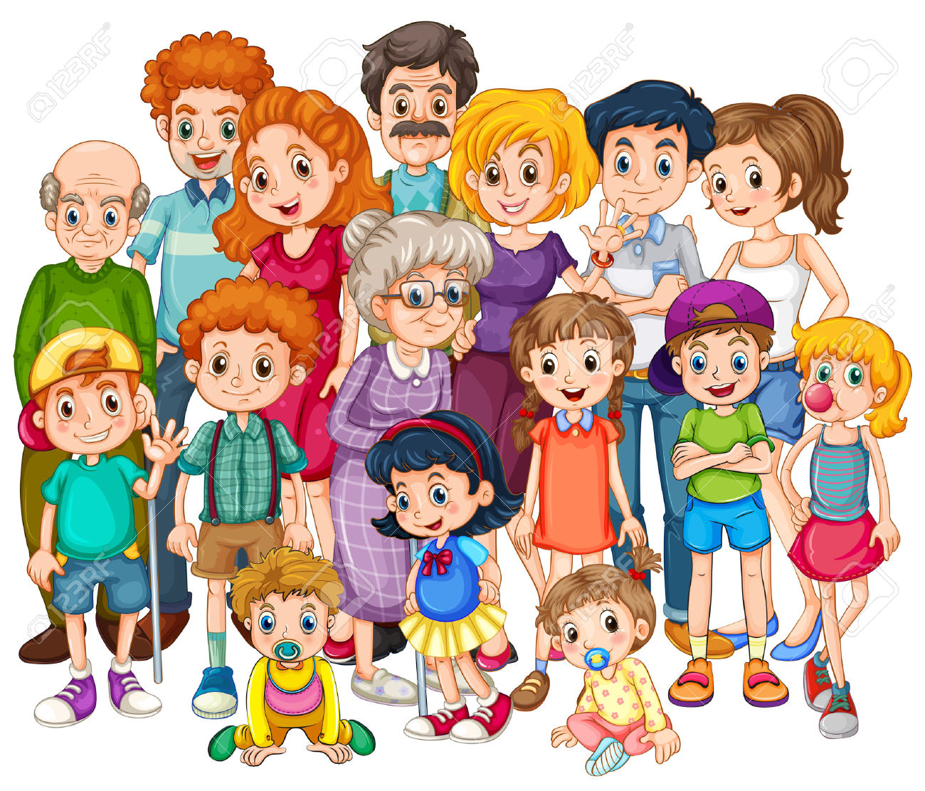 Larger clipart family picnic Extended clipart Family Big collection