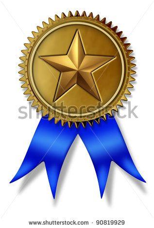 Larger clipart first place winner Gold  star silk class