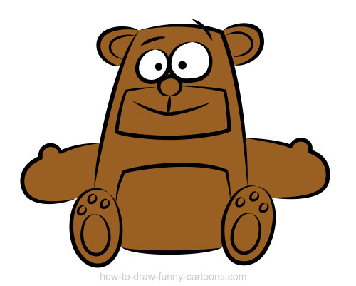 Larger clipart funny bear Create just few a shape