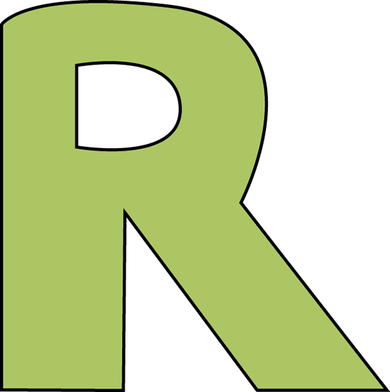 Larger clipart letter a Letter R R R Green