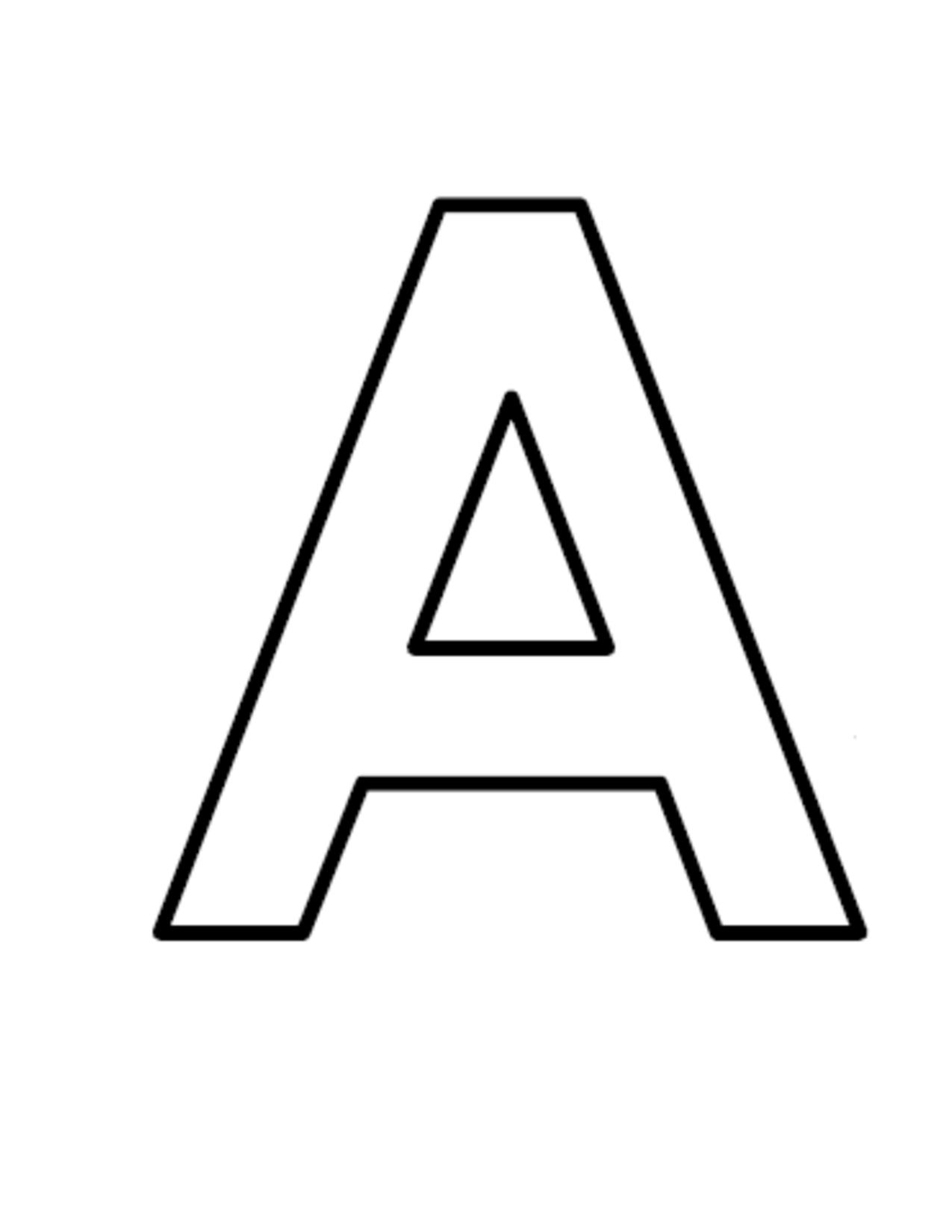 Larger clipart letter a Clipart Large Block Download Letters