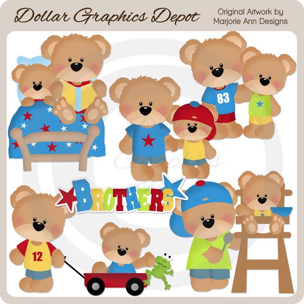 Larger clipart little $1 : Bear Little Art