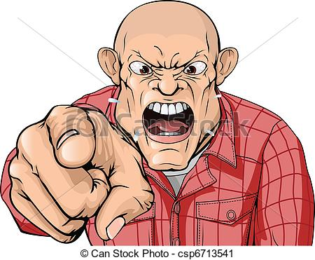Larger clipart mad guy Shaved with man csp6713541 Clip