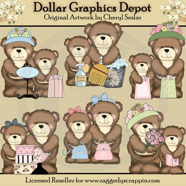 Larger clipart mother bear Mother's Brown Mother's Day Bear