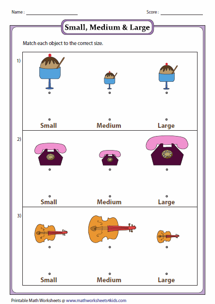 Larger clipart object Big sizes Matching and Worksheets
