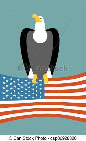 Larger clipart prey Flag birds Bald USA USA