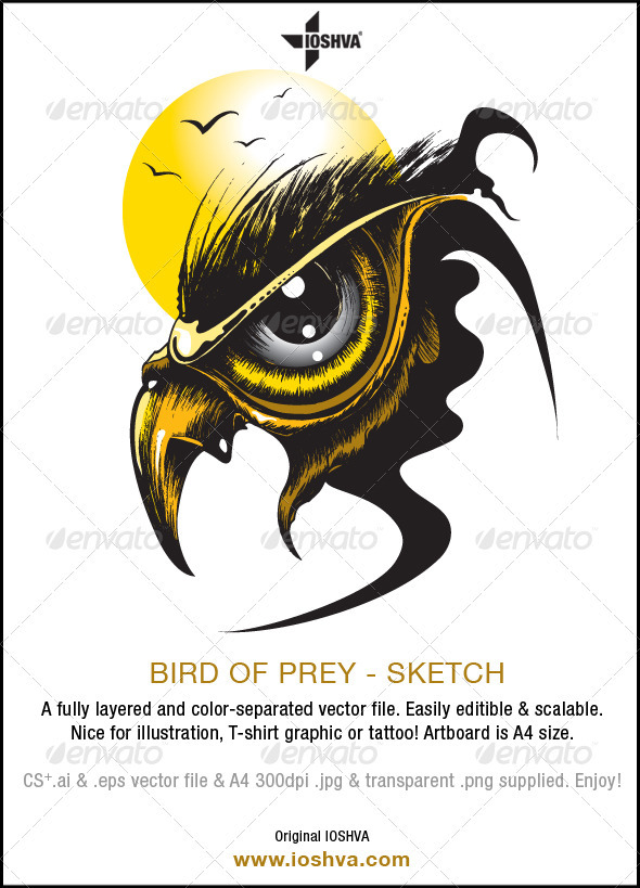 Larger clipart prey Bird of Vector file of
