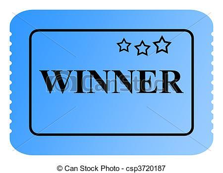 Larger clipart raffle winner Stock Winning or raffle of