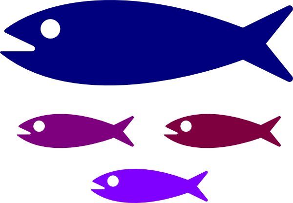 Larger clipart small fish Large Fish · medium art