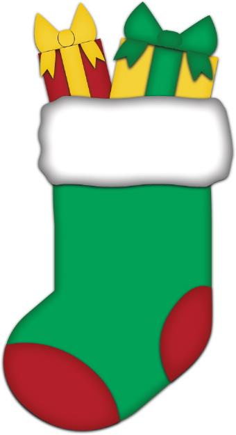 Amd clipart christmas stocking Clip Christmas  art Green