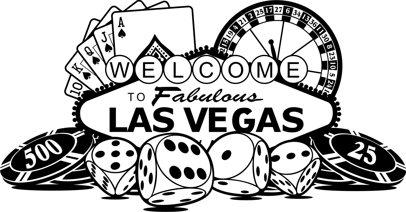 Las Vegas Clipart Black And White Las vegas art Pictures Las