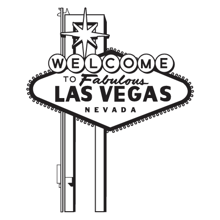 Las Vegas Clipart Black And White Las Vegas wall Art com