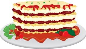 Lasagne clipart Clipart Lasagna Pasta Clipart With
