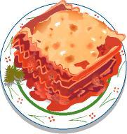 Lasagne clipart Resolution  Clipart 181x192 Lasagna