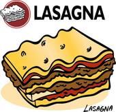 Lasagne clipart Slice Lasagna Royalty Lasagna Clip