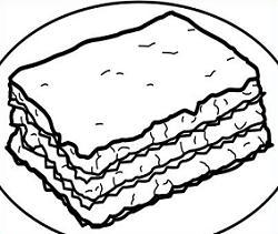 Lasagne clipart Free Lasagna Lasagna Clipart