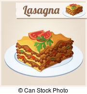 Lasagne clipart Series EPS vector  Lasagna