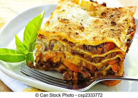 Lasagna clipart plate Plate Serving of of fresh