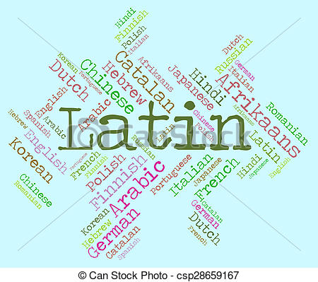 Latin clipart Of Shows csp28659167 Communication Latin